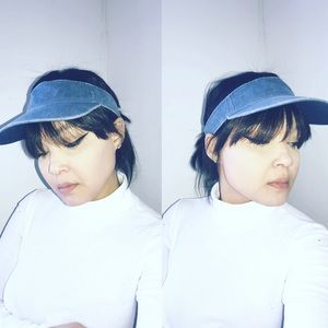 Accessories - Blue denim visor hat